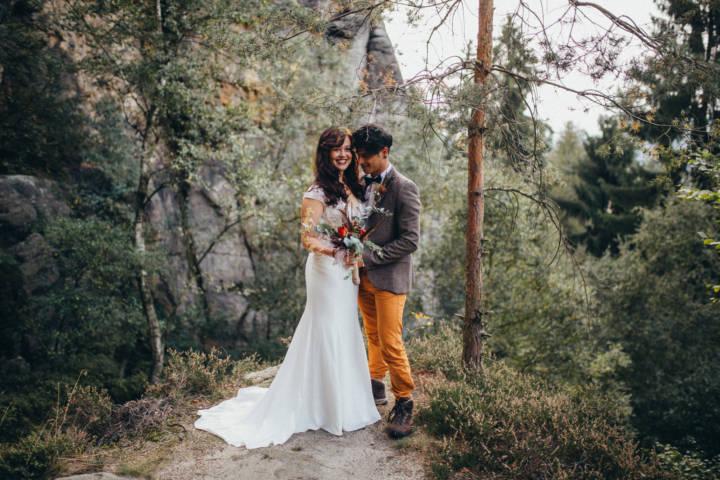 Hochzeits Trendshooting in der sächsischen Schweiz Trendshooting in der sächsischen Schweiz - moderne Hochzeitsfotografie Sachsen