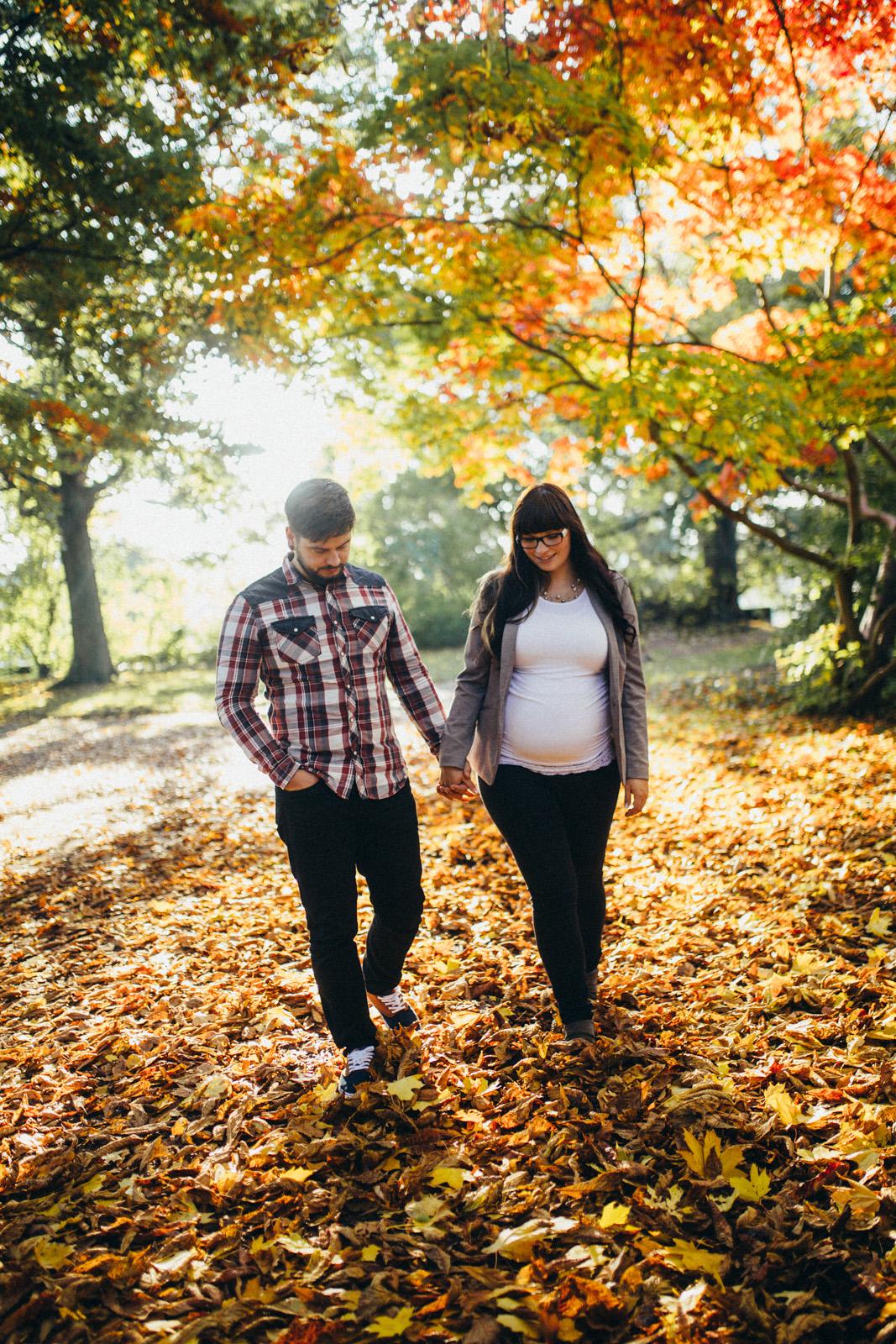 Herbstliche Fotoaufnahmen mit Carola und Norman