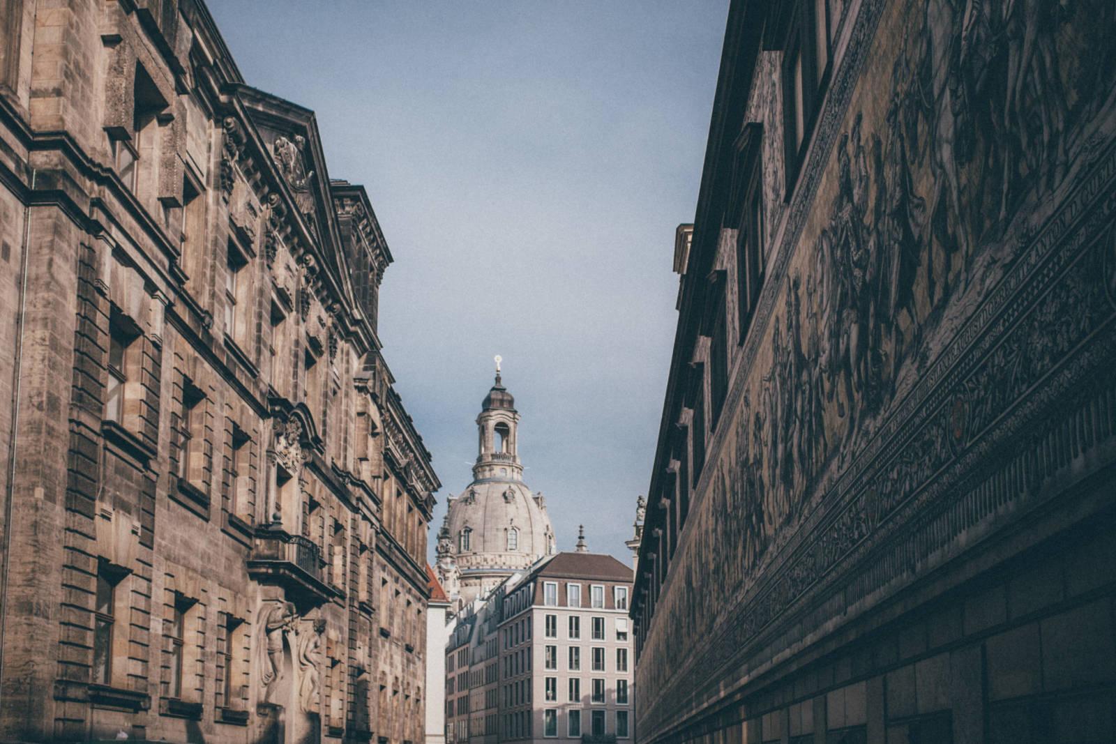 Dresden - mit Blick auf die Frauenkirche