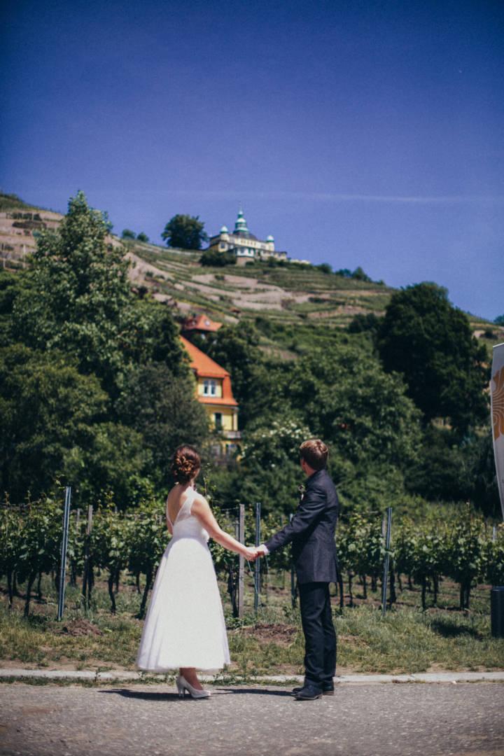 Hochzeitsfotografie auf Hoflößnitz der und Villa Sorgenfrei in Radebeul