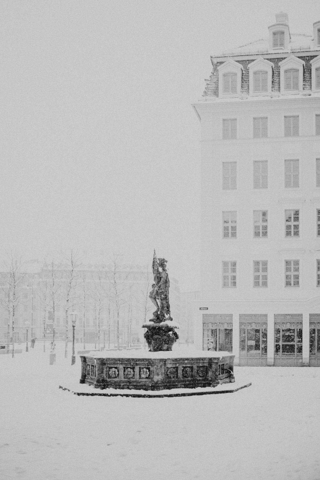 Winterspaziergang durch die in Dresdner Altstadt 2019